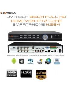 DRV 8 CANAIS 960H FULL HD 1080P