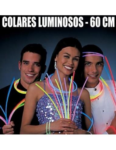 50 COLARES LUMINOSOS 60CM PARA FESTAS 0