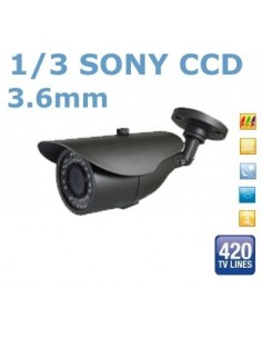 CAMERA VIGILANCIA IR 24 LEDS 3.6 MM