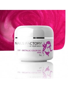 GEL UV DE CÔR METALICO PINK