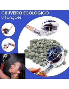 CHUVEIRO ECOLÓGICO 8 FUNÇÕES POUPE 65% 0