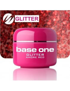 GEL UV DE CÔR GLITTERS AMORE RED