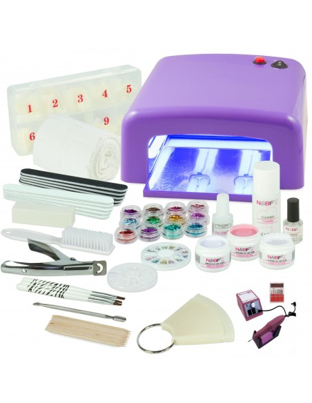 KIT PARA UNHAS DE GEL COMPLETO COM BROCA 0