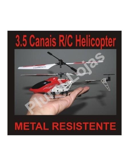 Mini Heli 3.5 Canais RC Metal