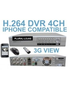 Dvr 4 canais Video Gravador H.264 Internet